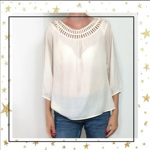 Will Smith Ivory Long sleeve pull on blouse